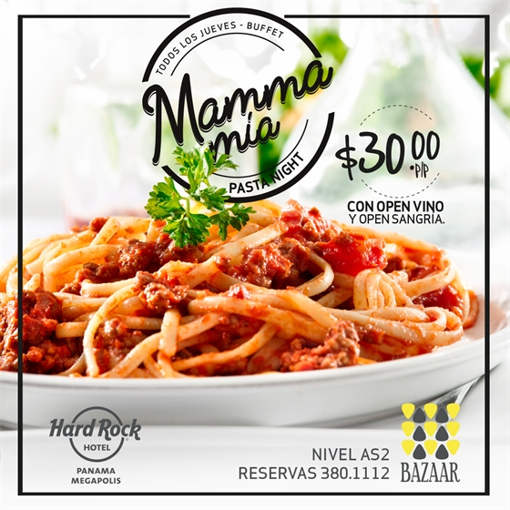 Mamma Mía - Pasta Night @ Bazaar